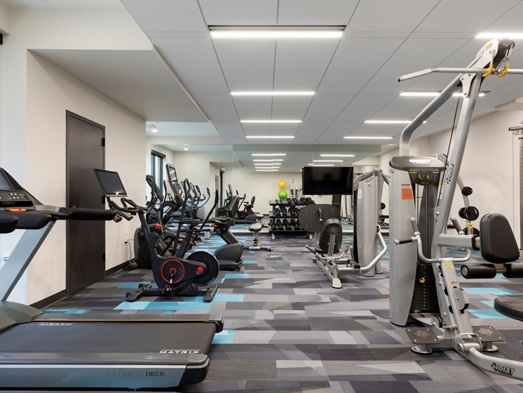 Spacious Fitness Center at The Hill in Saint Paul MN
