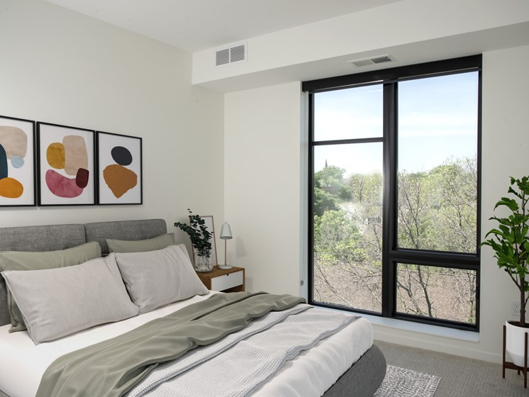 Gorgeous Bedroom at The Hill Apartments, Minnesota, 55103