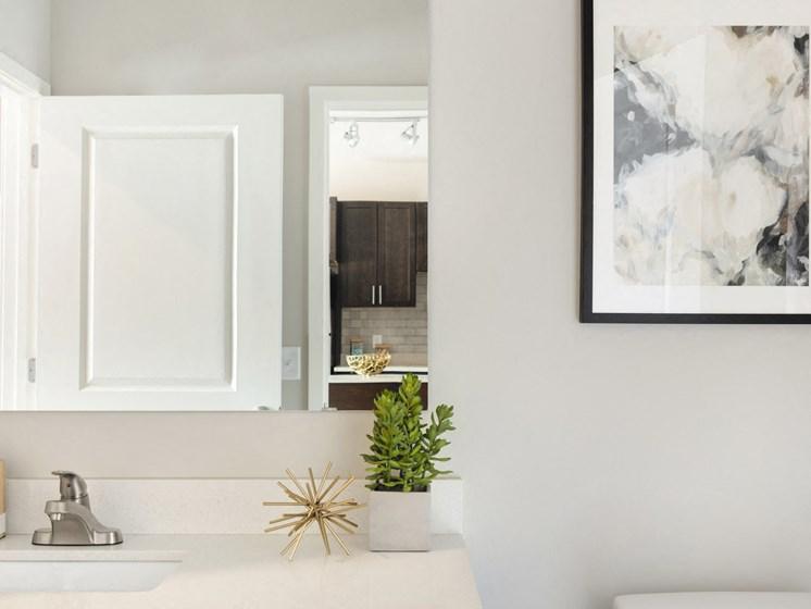 Modern bathroom finishes at The Sixton, Shakopee, MN