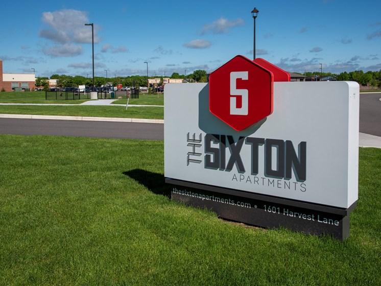 The Sixton apartments monument sign, Shakopee, MN 55379