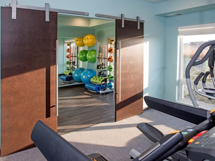 Fully Equipped Fitness Center at The Sixton, Shakopee, MN