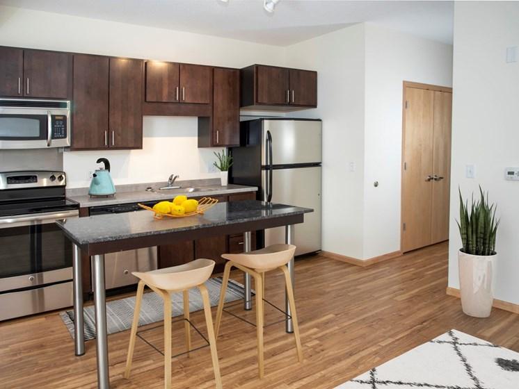 Modern Kitchen at Third North apartments in Minneapolis, MN