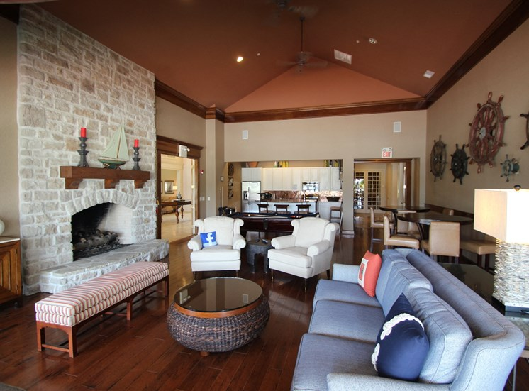 This is a picture of the resident clubhouse at Nantucket Apartments, in Loveland, OH.