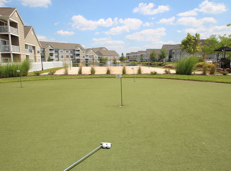 This is a picture of the putting green at Nantucket Apartments, in Loveland, OH.