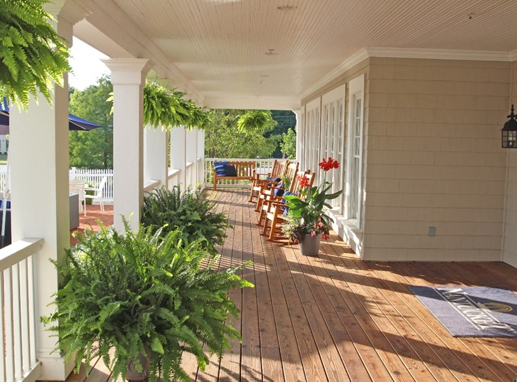 This is a picture of the resident clubhouse deck at Nantucket Apartments, in Loveland, OH.