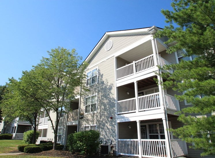 This is a photo of building exteriors at Trails of Saddlebrook Apartments in Florence, KY.