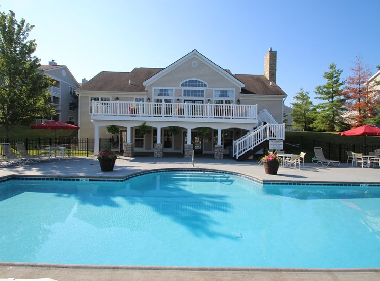 This is a photo of the swimming pool at Trails of Saddlebrook Apartments in Florence, KY.