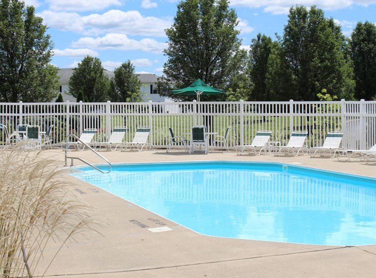 This is a photo of the pool area at Place Apartments in Washington Township, OH