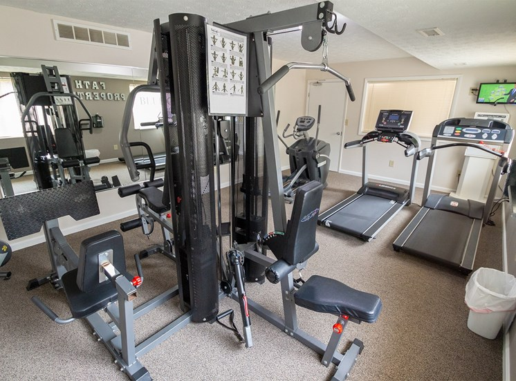This is a photo of the fitness center at Blue Grass Manor apartments in Erlanger KY.