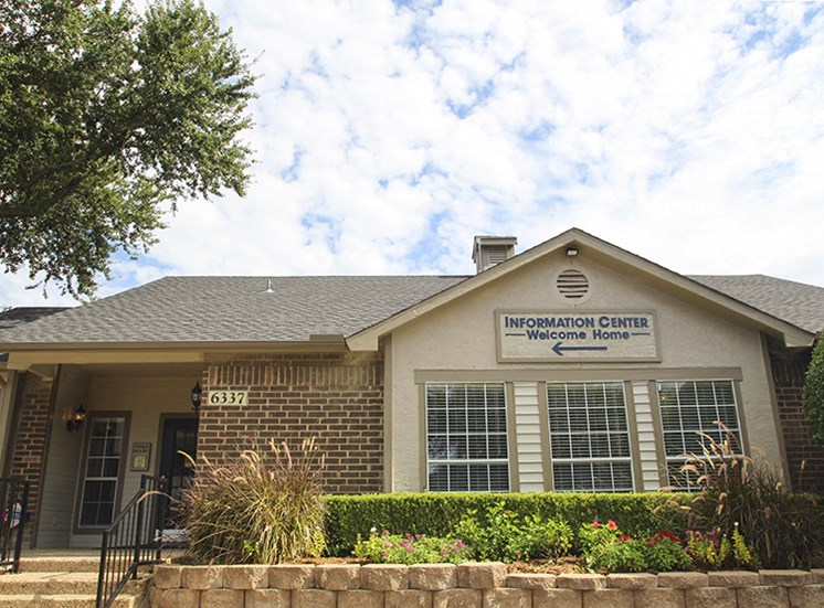 This is a photo of the Leasing Office at The Boulders Apartments in Garland, TX.