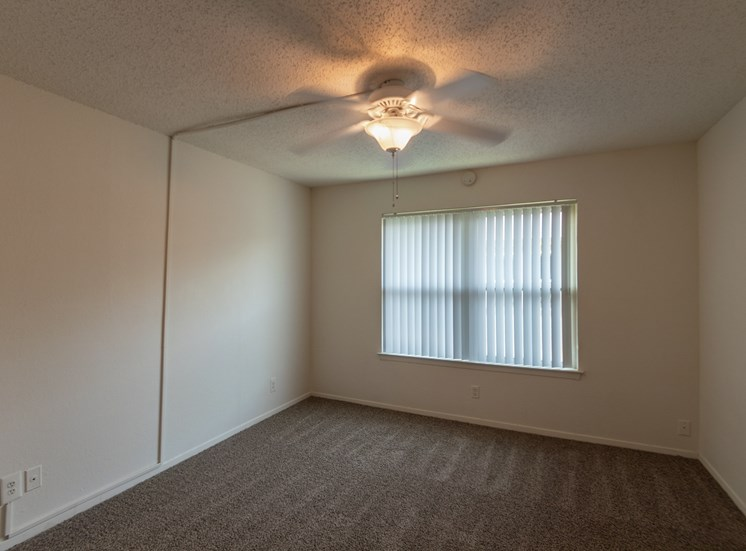 This is a photo of the bedroom in the 870 square foot 2 bedroom apartment at Gateway Place Apartments in Garland, TX.