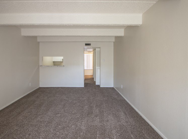 This is a photo of the living room in the 500 square foot 1 bedroom apartment at Harvard Square Apartments, in Dallas, TX.