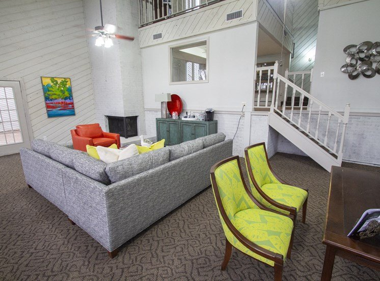 This is the interior club house office at Canyon Creek Apartments. in Dallas, TX