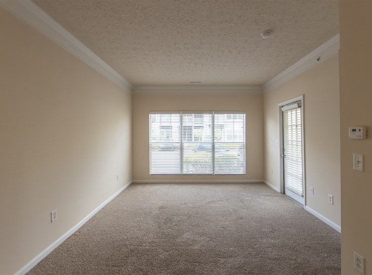 This is a photo of the living room in the 563 square foot, 1 bedroom Catamaran floor plan at Nantucket Apartments in Loveland, OH.