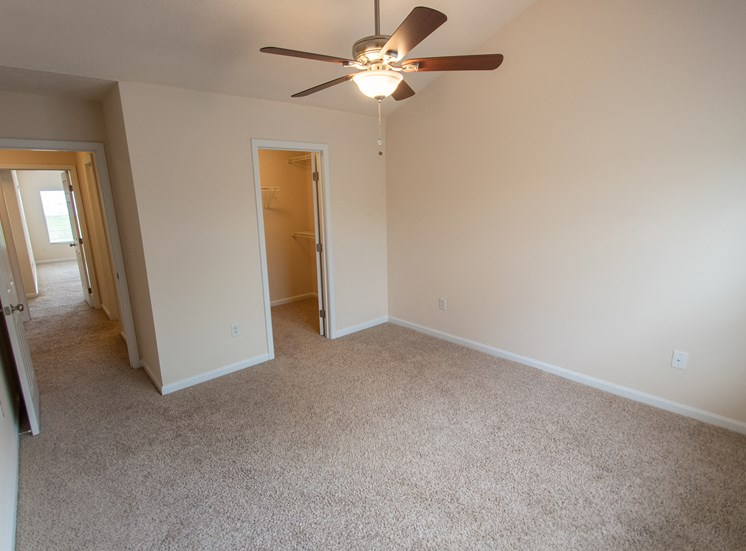This is a photo of the third bedroom in the 1578 square foot, 3 bedroom Flagship floor plan at Nantucket Apartments in Loveland, OH.