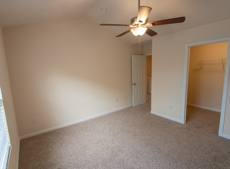 This is a photo of the second bedroom in the 1578 square foot, 3 bedroom Flagship floor plan at Nantucket Apartments in Loveland, OH.