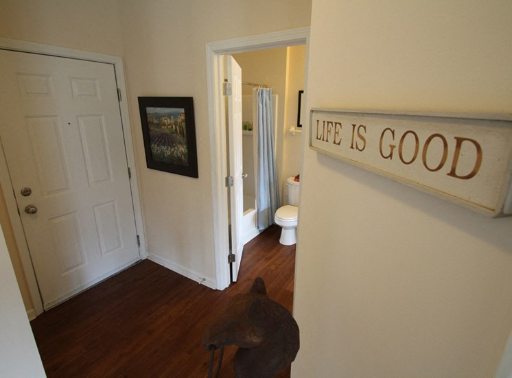 This is a photo of the entryway in the 2 bedroom Islander floor plan at Nantucket Apartments in Loveland, OH.