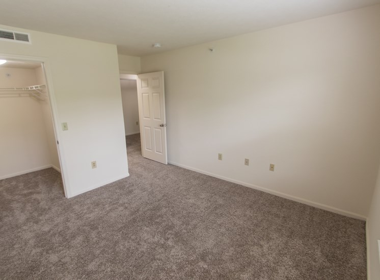 This is photo of the second bedroom in the 1056 square foot, 2 bedroom Gainsway floor plan at Trails of Saddlebrook Apartments in Florence, KY.