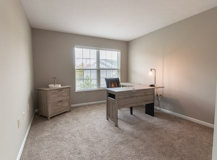 This is a photo of the second bedroom in the 1226 square foot 3 bedroom Hambletonian at Trails of Saddlebrook Apartments in Florence, KY.