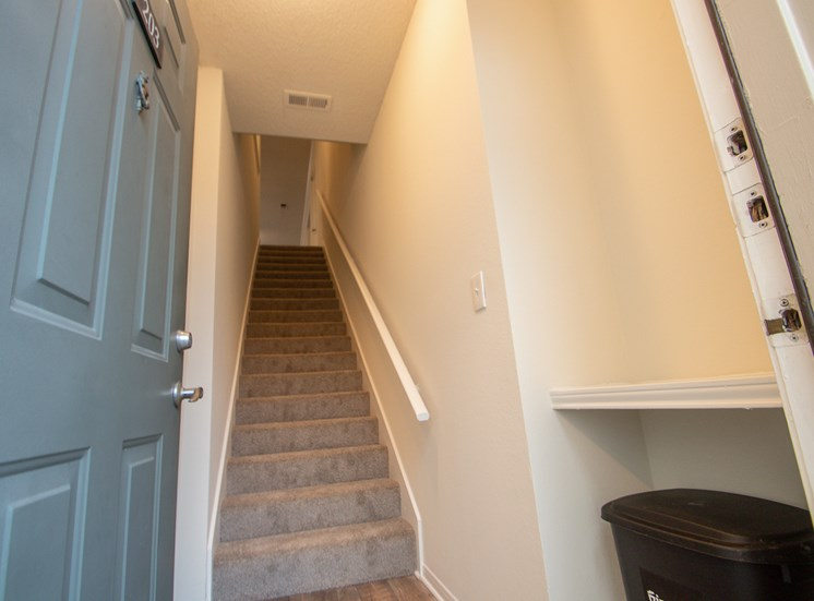 This is a photo of the entryway to the 1025 square foot 2 bedroom Tranquility floor plan at The Sanctuary at Fishers Apartments in Fishers, IN.