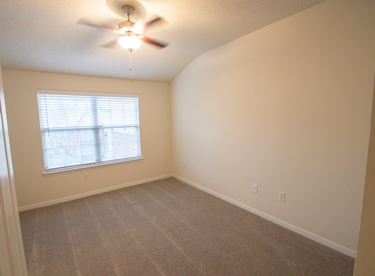 This is a photo of the bedroom in the 1025 square foot 2 bedroom Tranquility floor plan at The Sanctuary at Fishers Apartments in Fishers, IN.