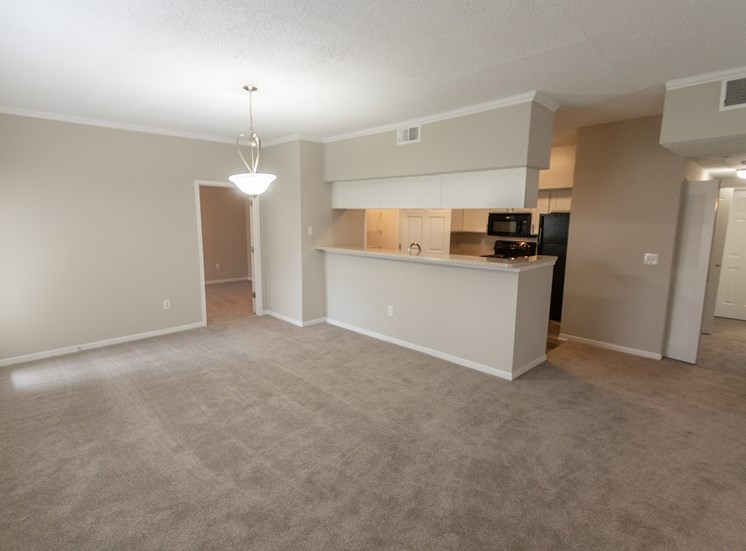 This is a photo of the dining room in the 1515 square foot 3 bedroom Zen floor plan at The Sanctuary at Fishers Apartments in Fishers, IN.