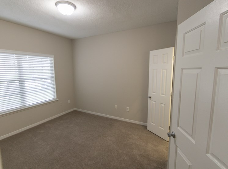 This is a photo of the second bedroom in the 1515 square foot 3 bedroom Zen floor plan at The Sanctuary at Fishers Apartments in Fishers, IN.