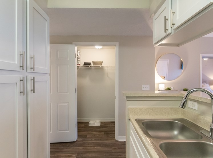 This is a photo of the hallway closet in the 1135 square foot 2 bedroom Retreat floor plan at The Sanctuary at Fishers Apartments in Fishers, IN.
