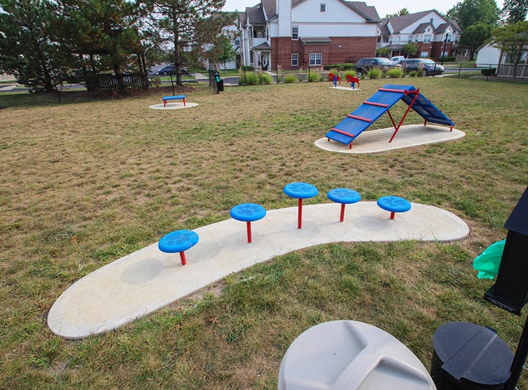This is a photo of the off leash dog park at The Sanctuary at Fishers in Fishers, IN.