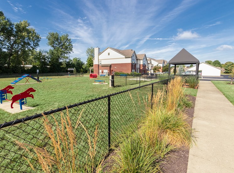 This is a photo of the bark park at The Sanctuary at Fishers in Fishers, IN.