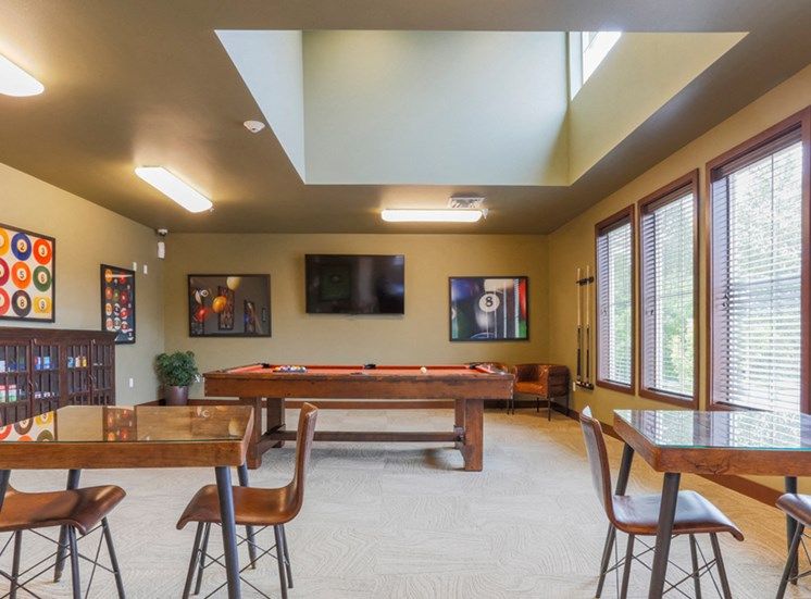 Media Room with Pool Table