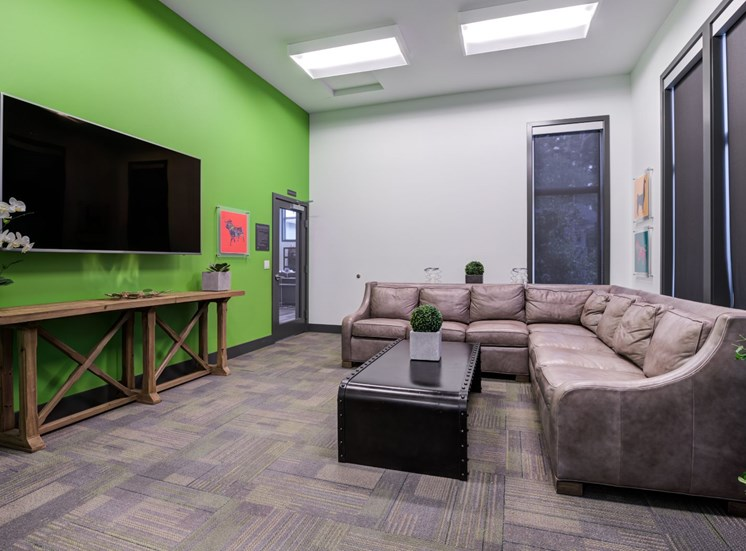Media Room, Theater Seating with TV