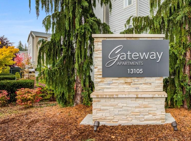 Gateway Entry Sign