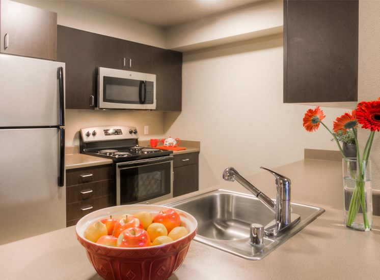 Fully Equipped Kitchen with Refrigerator, Microwave, Dishwasher & USB outlet