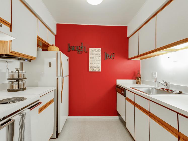 Spacious Kitchen at Eastwood Village Apartments, Clinton Township, MI 48035