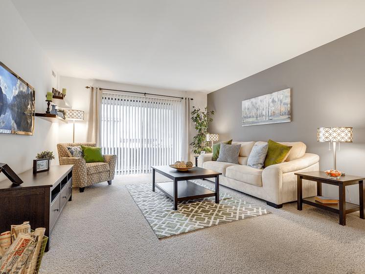 Sun-filled Living Room at Eastwood Village Apartments, 24382 Eastwood Village Court