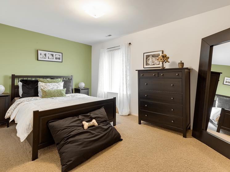 Modern Master Bedroom at Eastwood Village Apartments, MI 48035