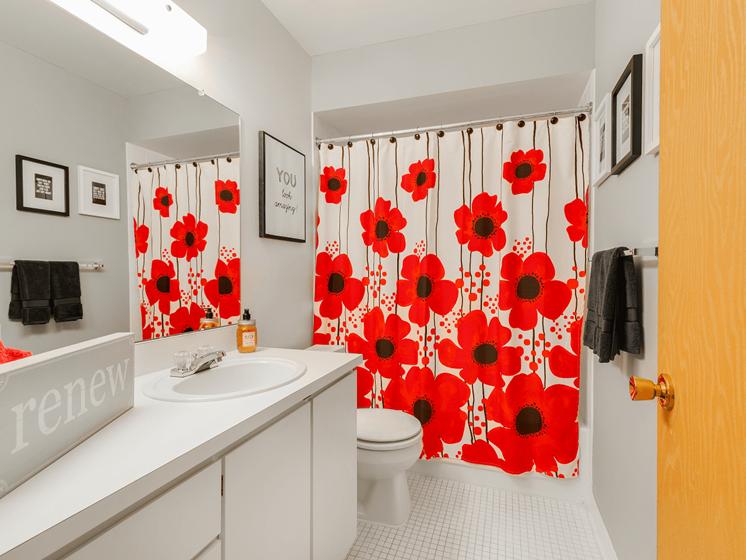 Bathroom at Eastwood Village Apartments, MI 48035