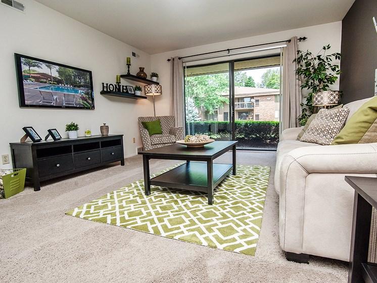 Huge Living Room at Eastwood Village Apartments, Clinton Township, MI 48035