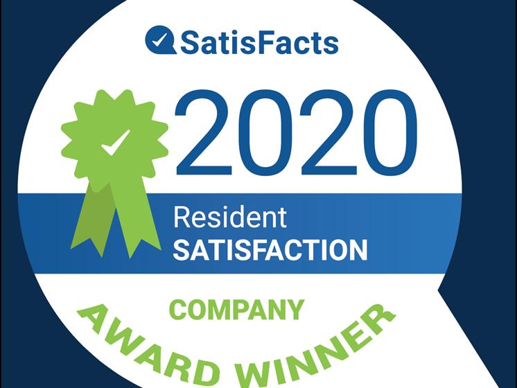 SatisFacts Company Award Winner at Prentiss Pointe Apartments Harrison Township Michigan