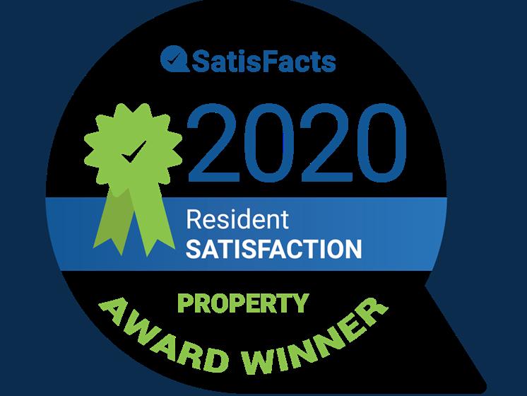 SatisFacts Property Award Winner at Eastwood Village Apartments Clinton Township Michigan