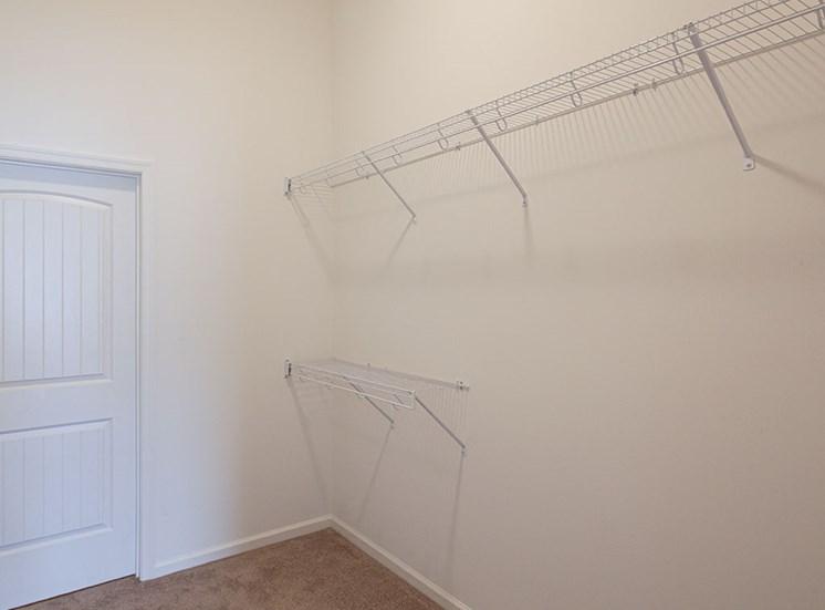 Closet at Logans Landing apartments in Lynchburg VA