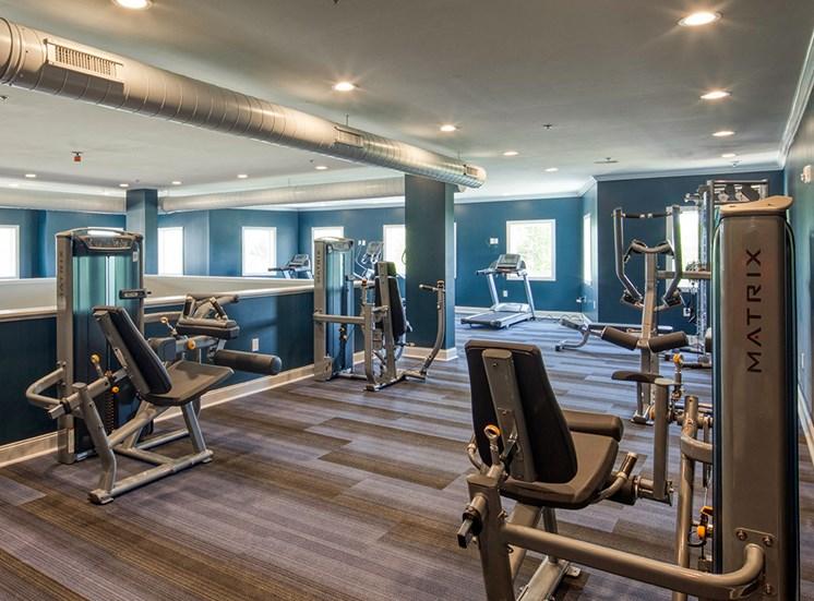 Fitness_Center_Logans_Landing_Apartments in Lynchburg VA
