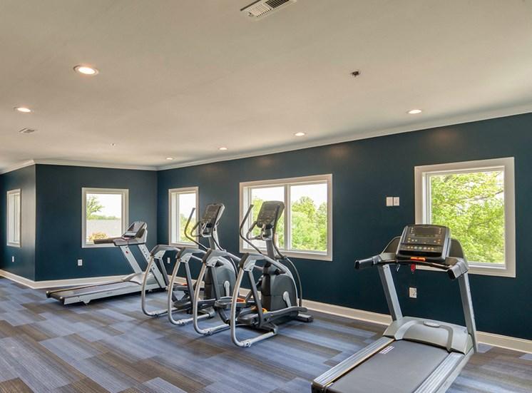 Gym at Logans Landing Apartments in Lynchburg VA
