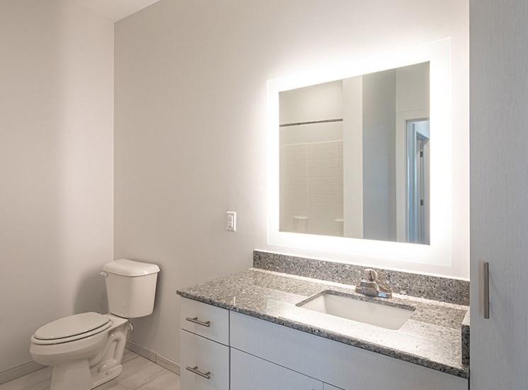 Bathroom at Helix Apartments in Chesapeake VA