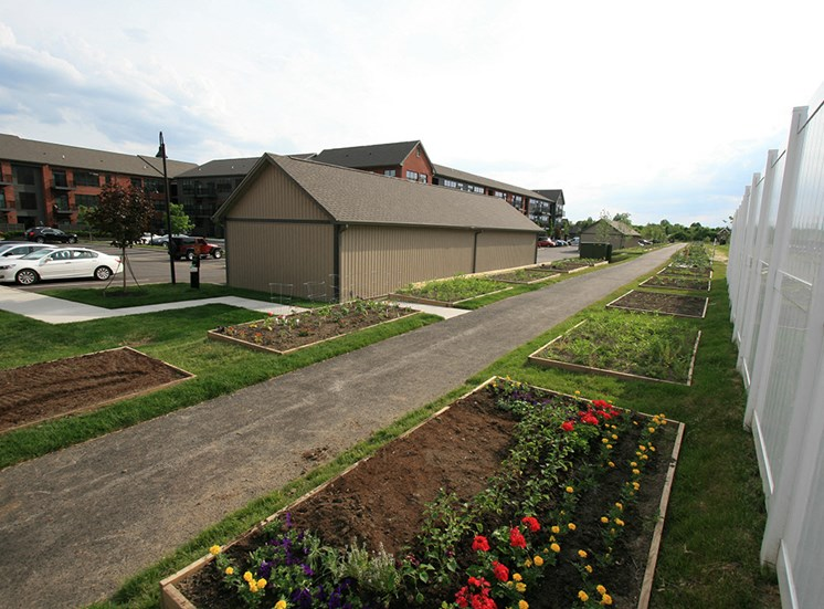 Hayden Lofts Apartments garden plots