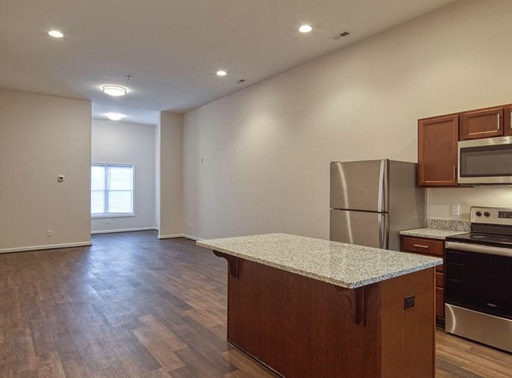 Kitchen at Logans Landing Apartments in Lynchburg VA