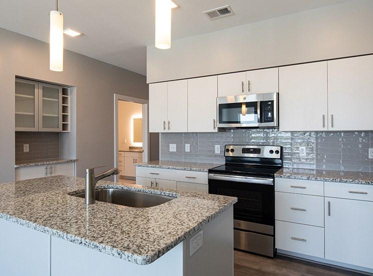 kitchen at Helix Apartments in Summit Pointe Chesapeake VA