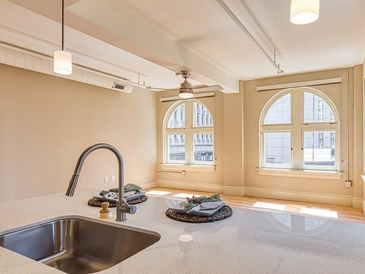 Living area at Stumpf Flats Apartments in Richmond Va