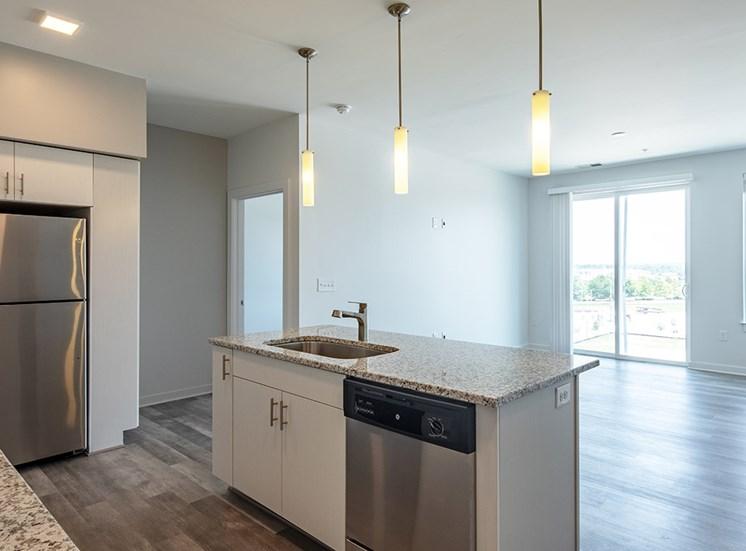 kitchen counter in apartments in Chesapeake VA